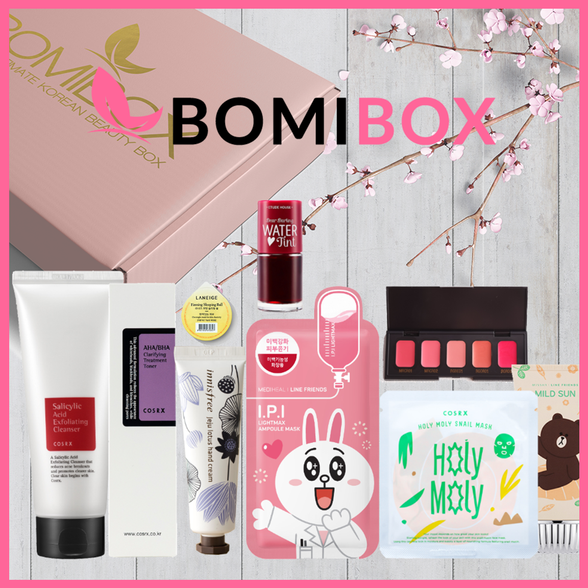 Bomibox Is A Monthly Korean Skincare Beauty Box With Free Delivery To The Us And Worldwide Shipping Options A Beauty Box Beauty Box Subscriptions Korean Beauty