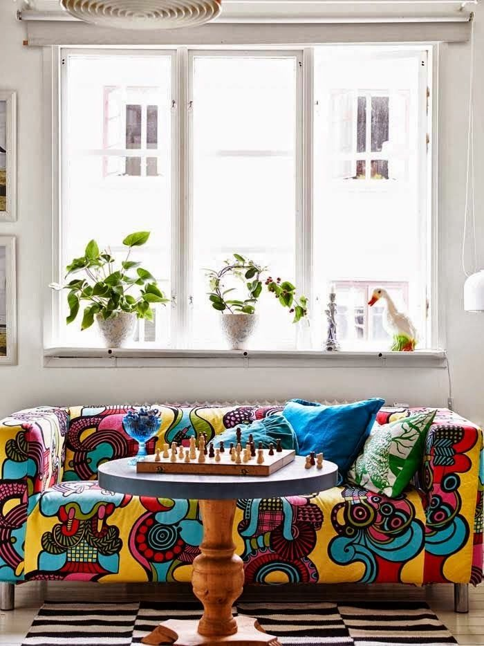 Casinha colorida: Vintage nórdico clássico