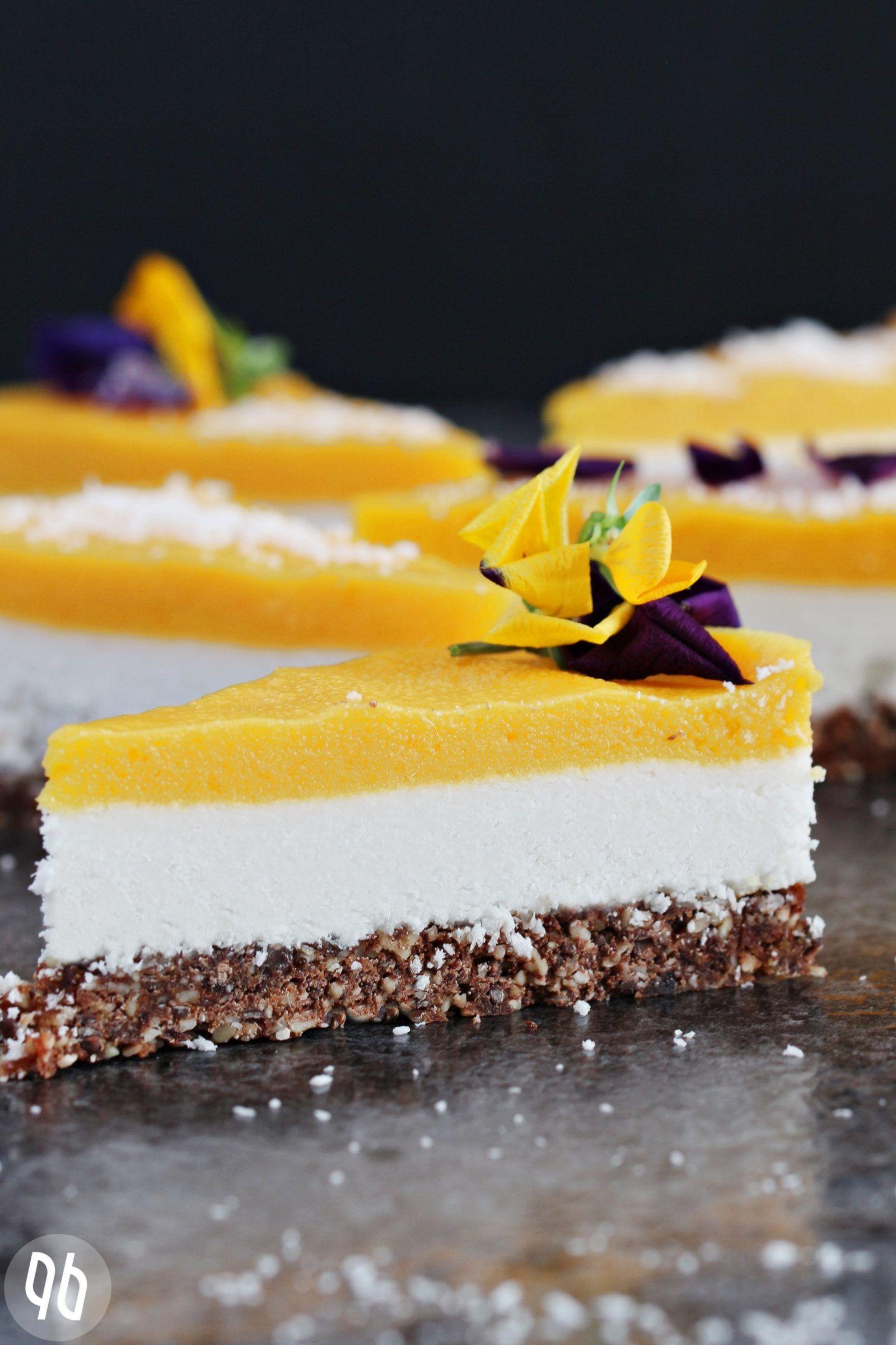 Rezept Rohkostlicher Mango Kokos Kuchen Mit Schokocrunch Neuigkeiten Rezept Kuchen Ohne Backen Roher Kuchen Rezepte