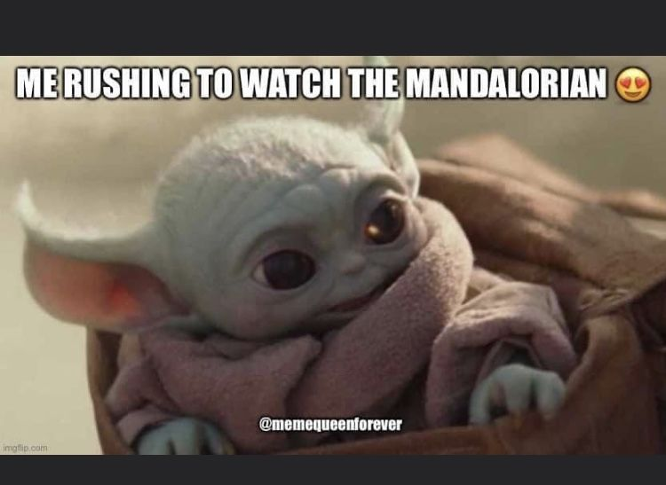 Baby Yoda Rushing To Watch The Mandalorian Yoda Meme Star Wars Characters Yoda Yoda Funny