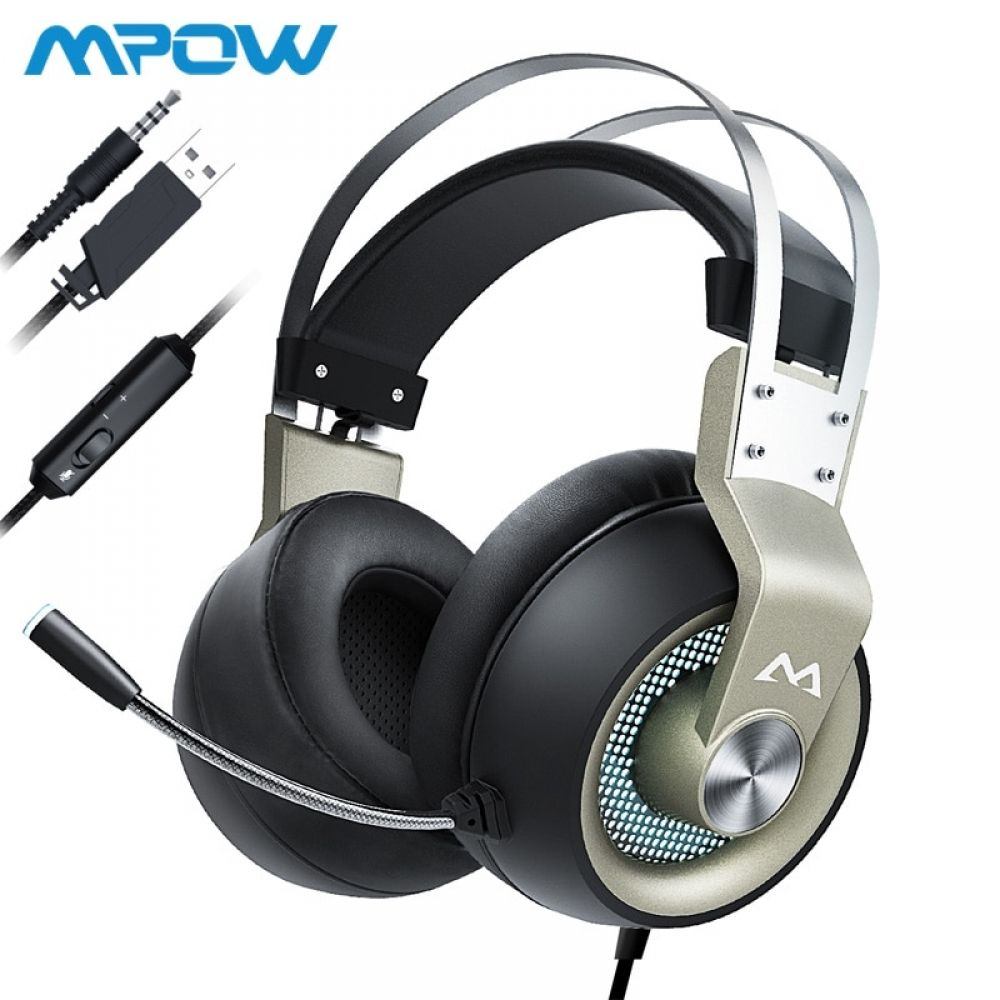 Mpow Eg3 Pro Gaming Headphones For Ipad Ps4 Pc Laptop Tablet Phones 3 5mm Jax Usb Cable Support Volume Mic Control 50mm Driver Gaming Headphones Usb Headphones Mpow