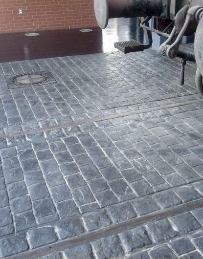 Stamped Concrete Cobblestone Running Bond Pattern Home