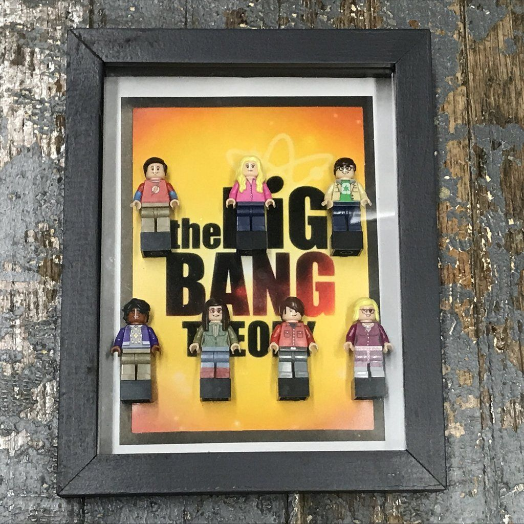 Big Bang Theory Lego Figurine Wall Display Picture Frame Toy Art ...