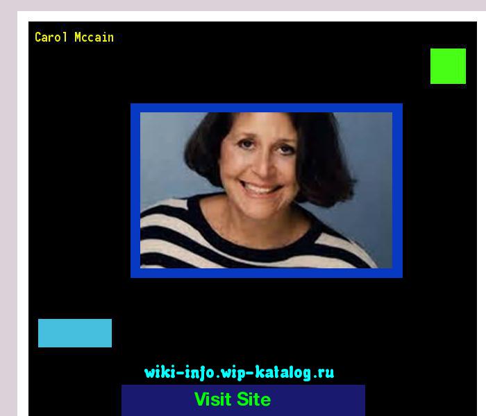 Carol Mccain: Carol Mccain 164911 - Results Now On Wiki-info!