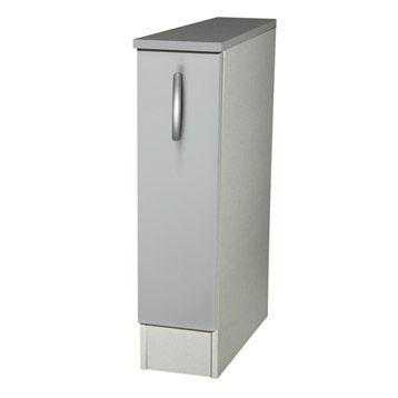 Meuble De Cuisine Bas 1 Porte Gris Aluminium H86x L15x P60cm Meuble Cuisine Mobilier De Salon Meuble