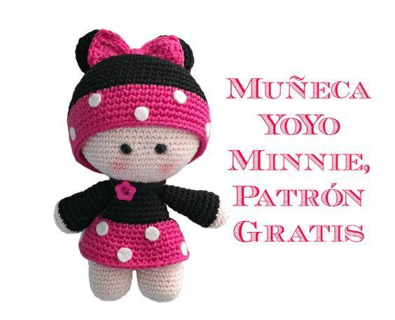 Muñeca Minnie amigurumi   amigurumi   Pinterest   Minnie, Muñecas y ...