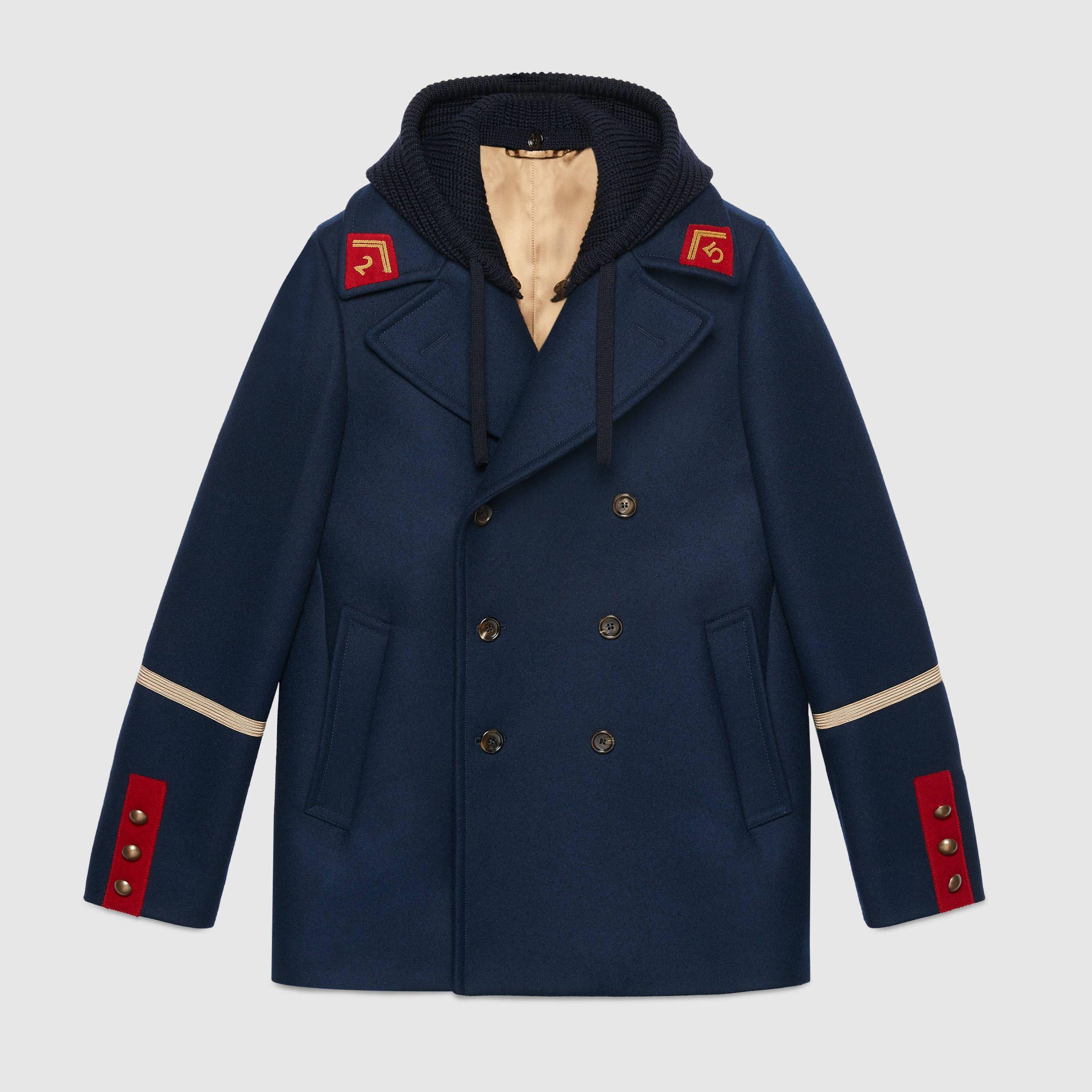 886874d25a Embroidered felt coat - Gucci Jackets & Coats 494794Z531H4618 | AW19 ...