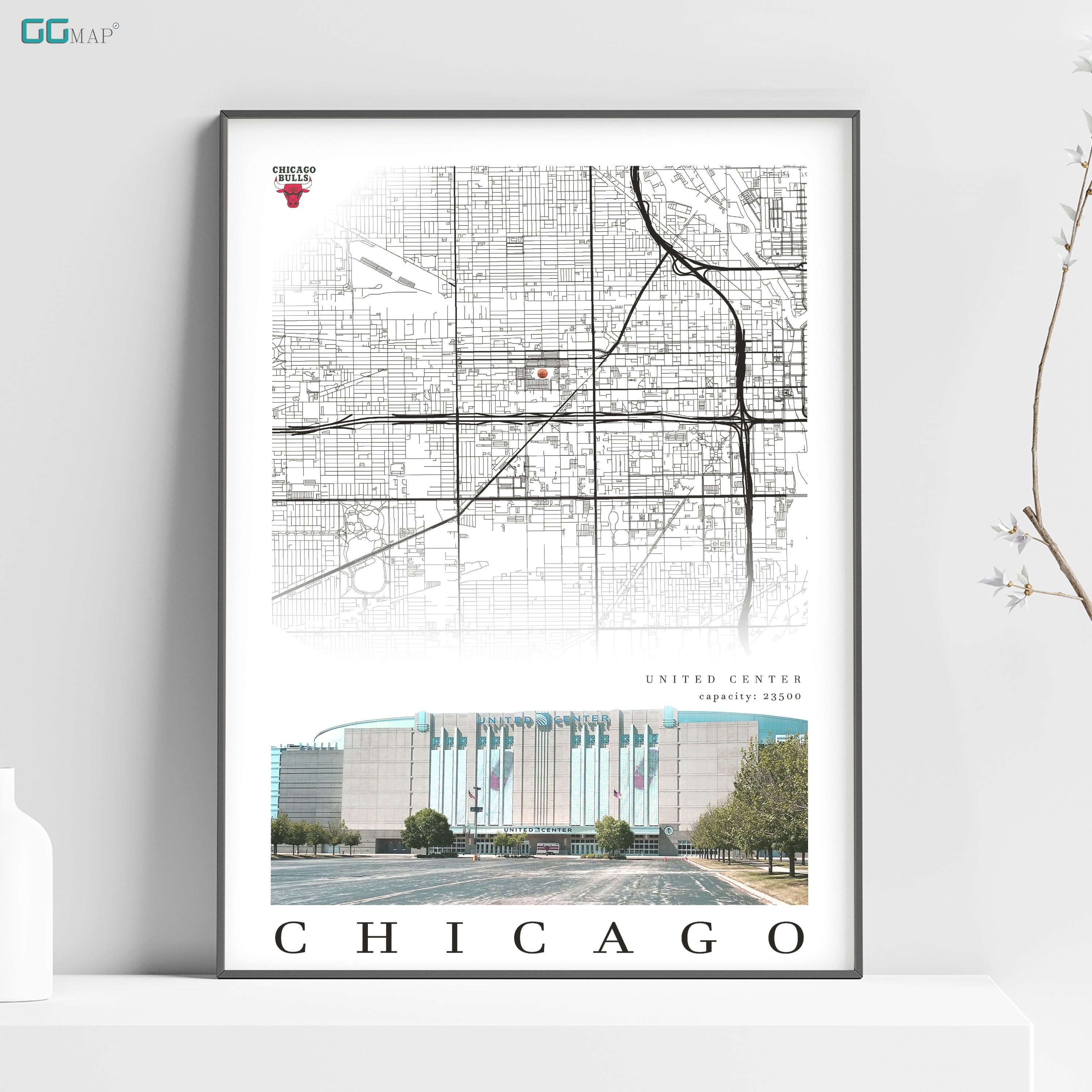 """Poster Print /""""City Map of Chicago/"""""""