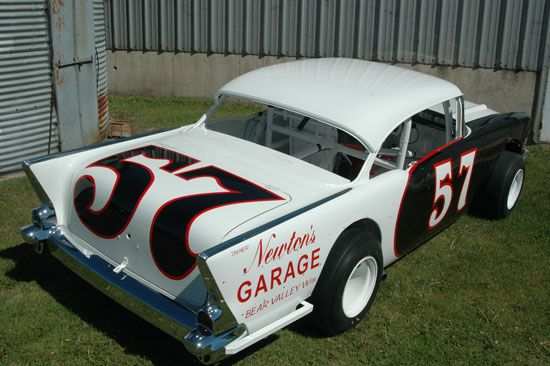 57 chevy dirt race car