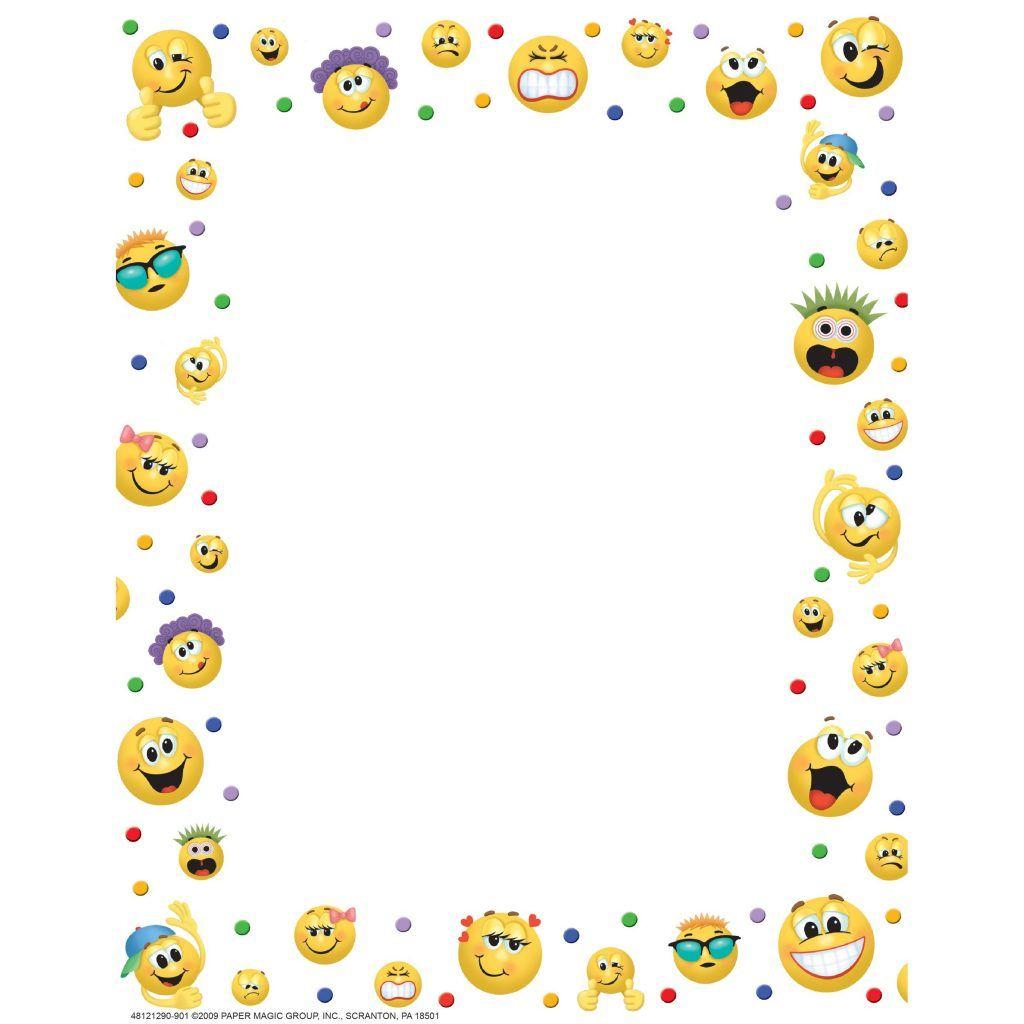 28 Collection Of Emoji Clipart Border High Quality Free Cliparts Intended For Emoji Border Template Molduras Decoradas Molduras Criativas Bordas Coloridas
