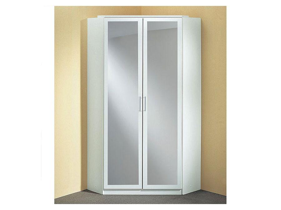 Armoire D Angle Clack Blanc En 2020 Armoire D Angle Rangement Facile Miroirs En Verre