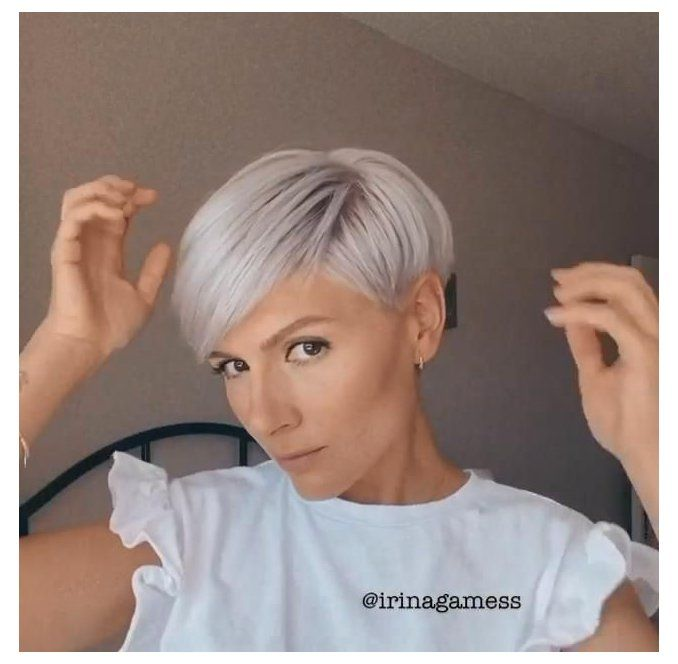 really short hairstyle women fine hair