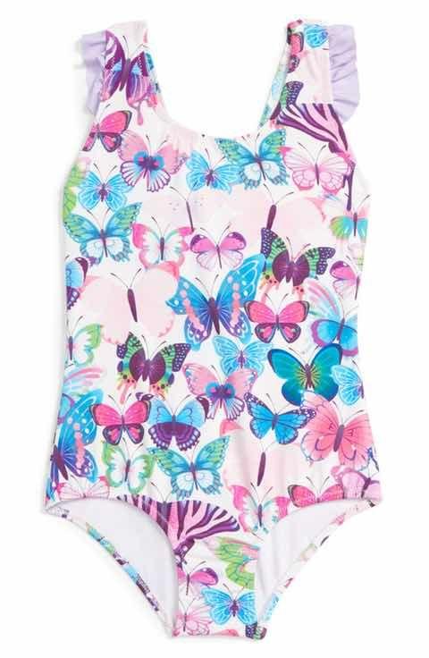ceafd72ed2 Hatley Butterflies One-Piece Swimsuit (Toddler Girls, Little Girls & Big  Girls)