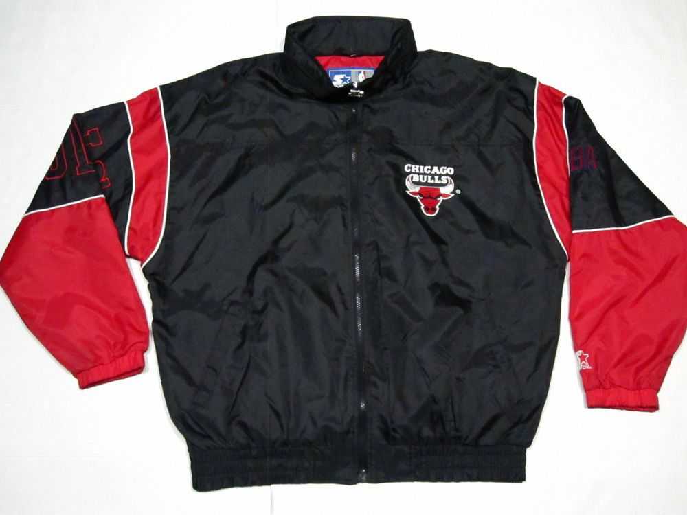 vintage starter chicago bulls mens windbreaker jacket size XL vtg ...