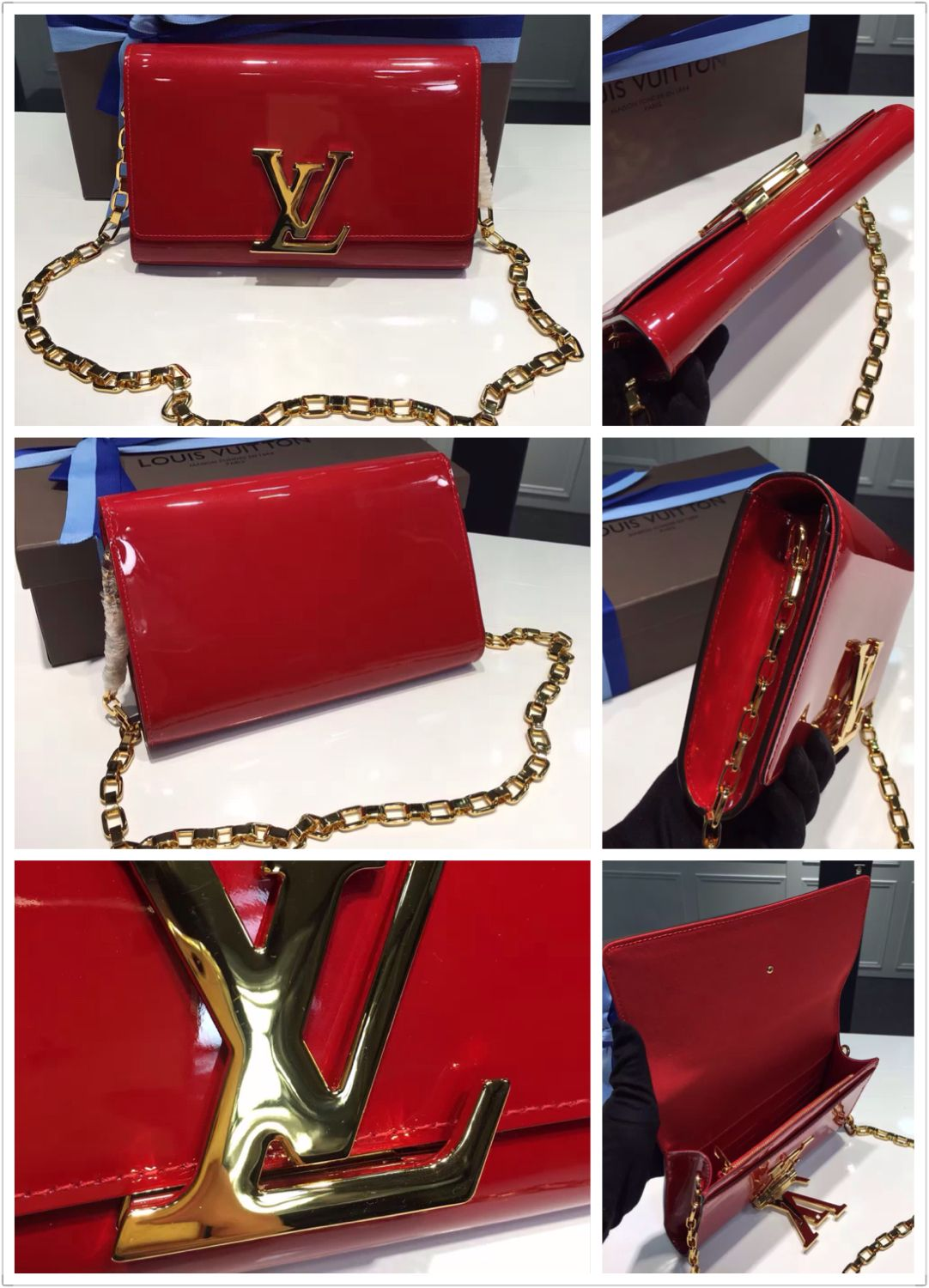 8b811ca698d8 louis vuitton chain louise gm handbag Be the first to review this product  original quality louis vuitton chain louise gm handbag red Availability  In  stock ...