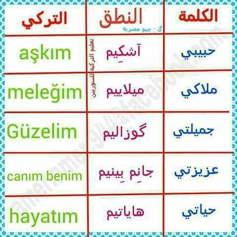 Pin By Nemo On تعليم اللغة التركيه Turkish Language Learn Turkish Language Turkish Quotes