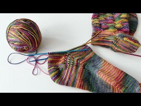 Socken Stricken Super Easy Socken Von Der Spitze Teil 3 Die