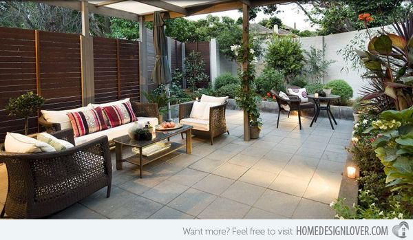 Perfect 15 Beautiful Outdoor Living Room Designs