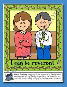 I Can Be Reverent Poster Or Coloring Page Primary Lessons