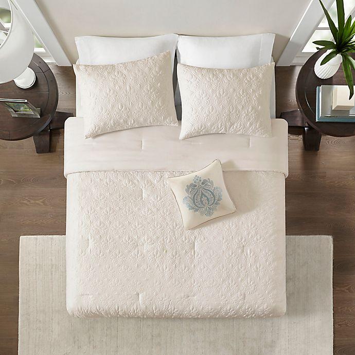 Madison Park Quebec 5 Piece Comforter Set Bed Bath Beyond Bed Bath And Beyond Timeless Bedding Comforter Sets