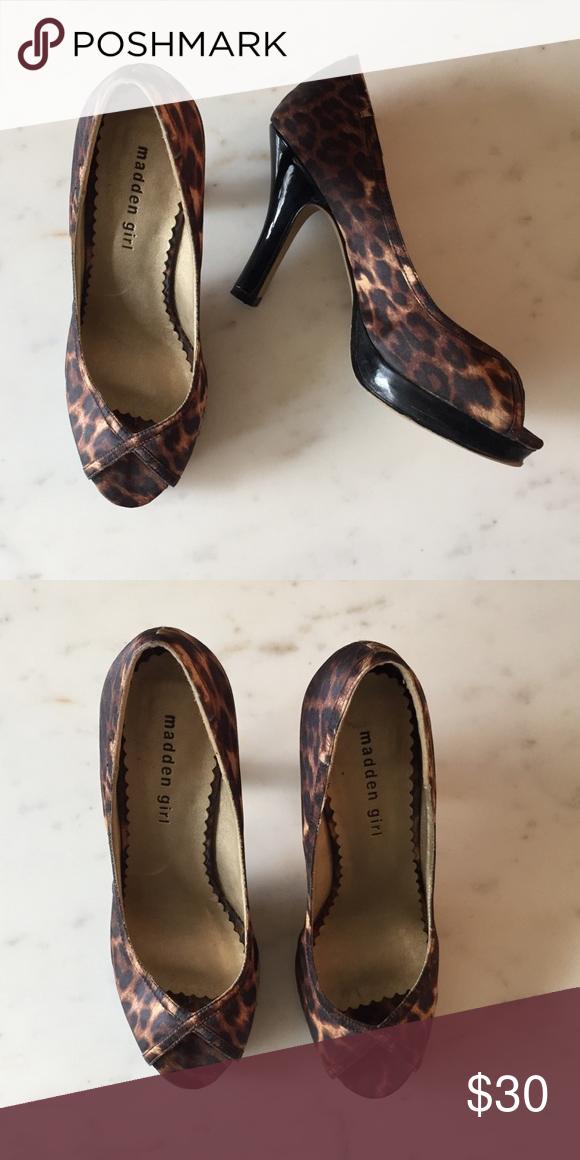 Madden Girl Leopard Print Peep Toe