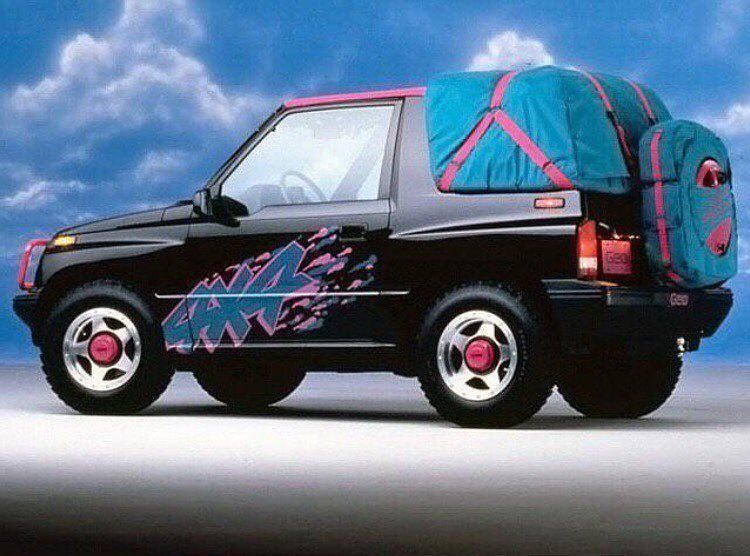 Geo Tracker Introduced 1989 Concept Cars 80s Design Chevrolet