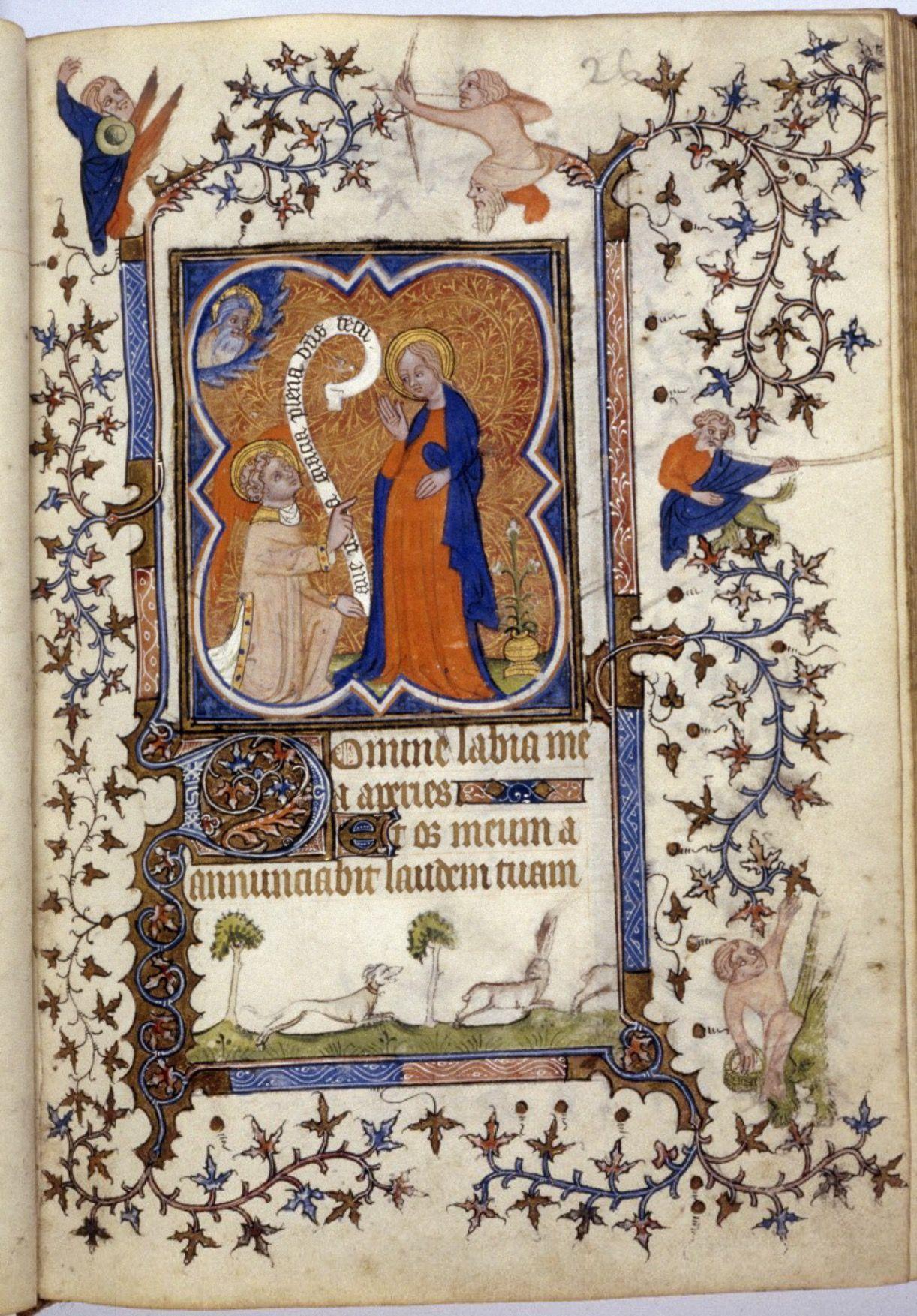 Bodleian, ms Rawl. Liturg. f. 27, fol. 26r, France, Heures à l'usage de Paris, c. 1380-1390, Matines (Heures de la Vierge)