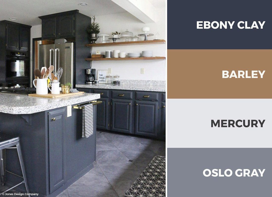 a gray and white kitchen color scheme adds openness and depth to your kitchen read on with on kitchen cabinets color combination id=24347