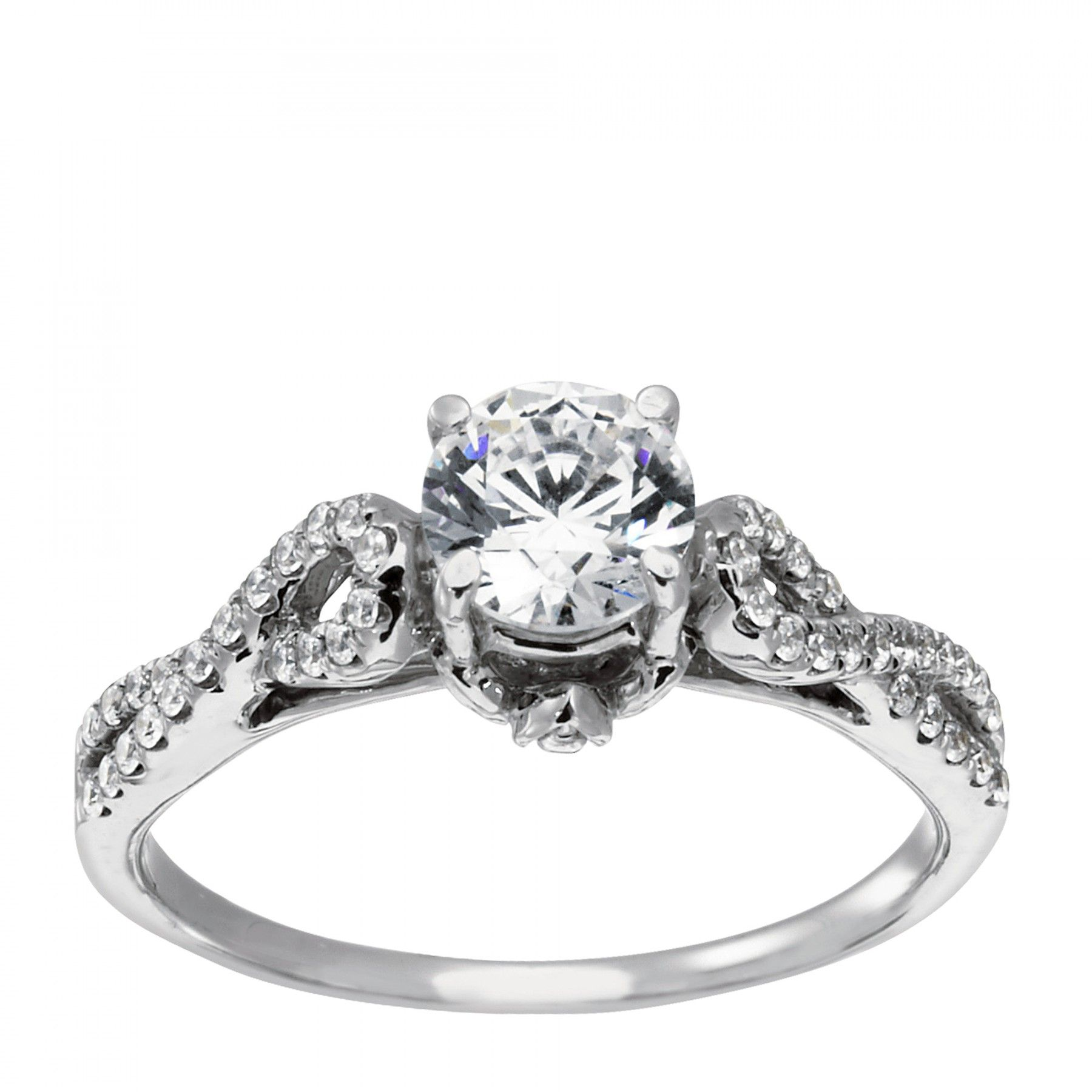 Luz Eterna Engagement Ring 10k Value Collection Engagement Rings Affordable Lab Created Engagement Rings Petite Engagement Ring