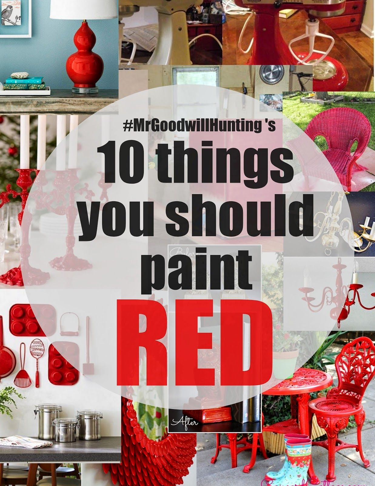 10 things you should PAINT RED! Home crafts, Decor, Diy