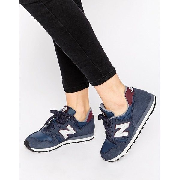 New Balance 373 Navy & Burgundy Suede Sneakers | Suede trainers ...