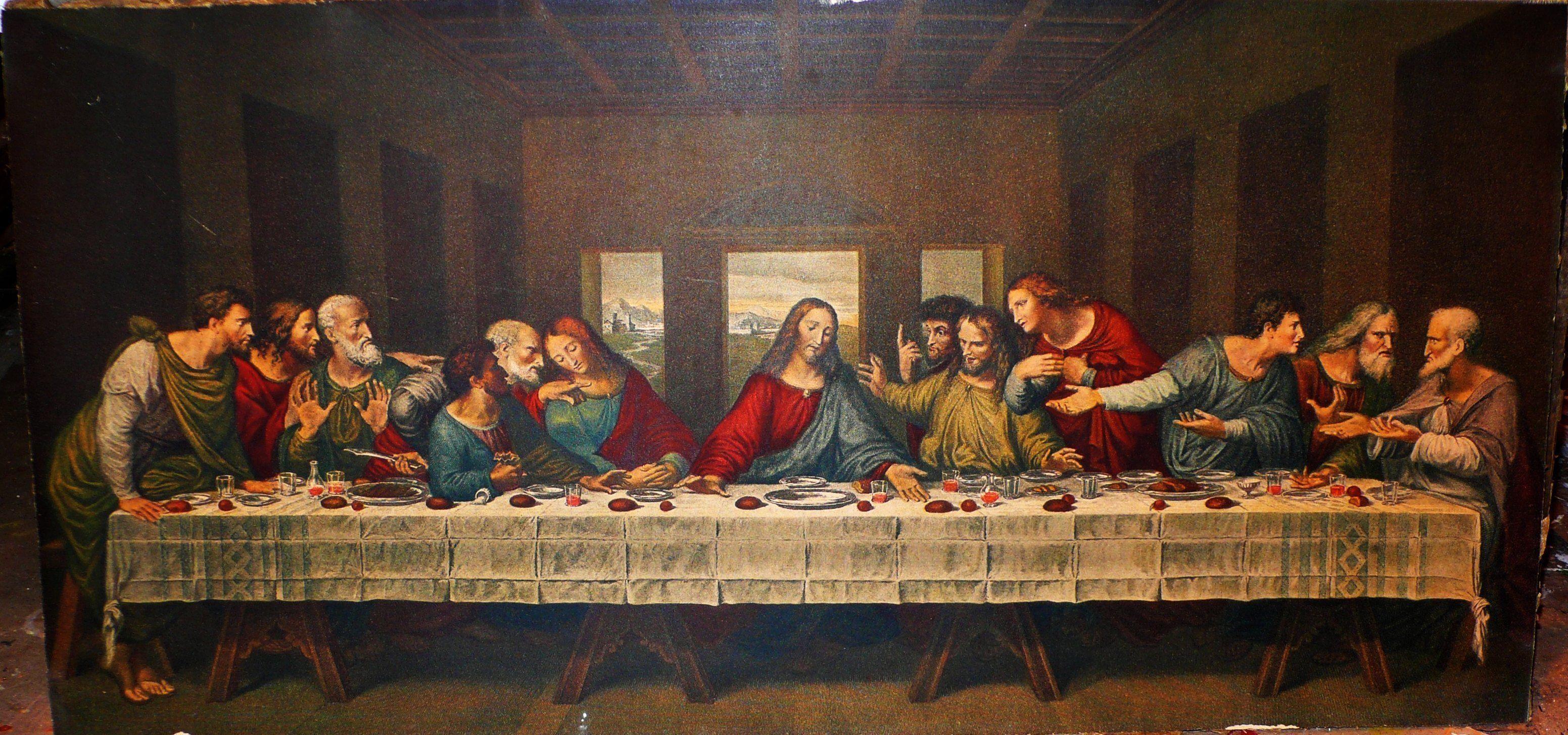 The Last Supper Leonardo Da Vinci 3d Model Com Imagens Ceia
