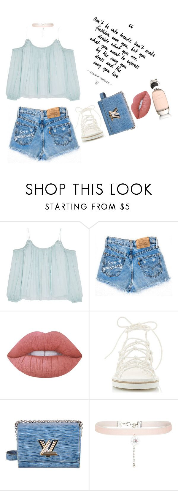 """Summer Passion"" by dorisruiyingli ❤ liked on Polyvore featuring Elizabeth and James, Lime Crime, Chloé, Louis Vuitton, New Look and Comme des Garçons"