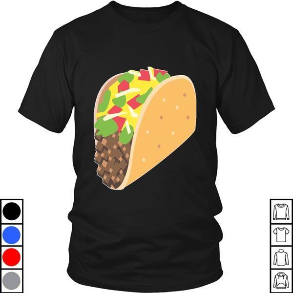 Teeecho Emoji Taco Tuesday Mexican Texmex Tortilla Emoticon Texting T-Shirt, Sweatshirt, Hoodie for Men & Women #tacotuesdayhumor
