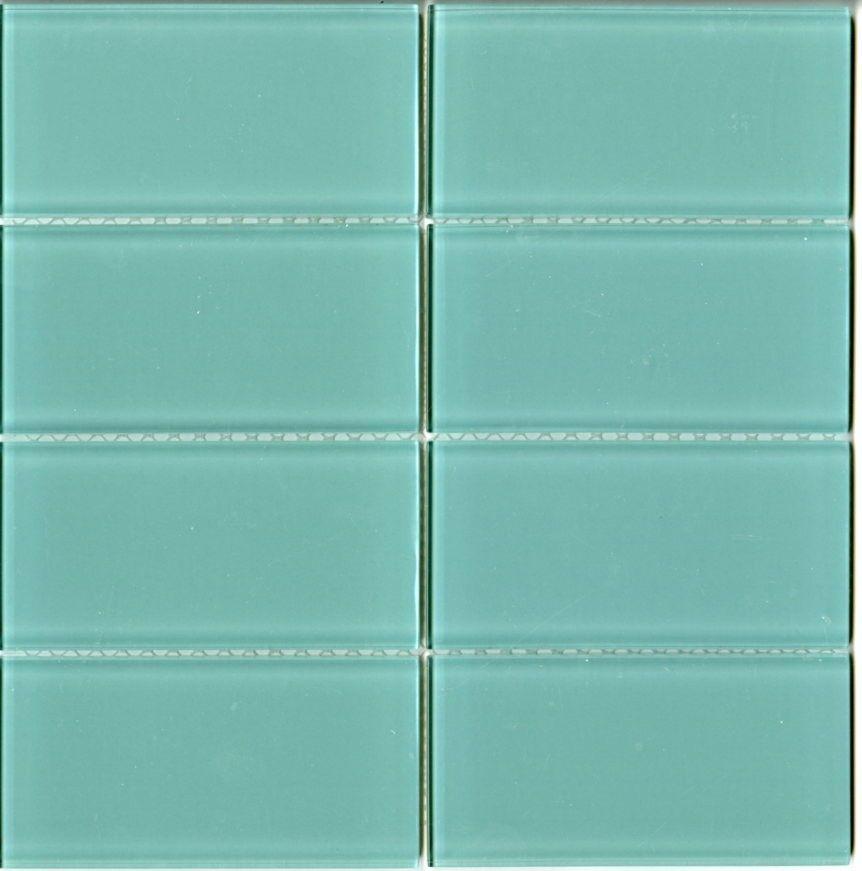 Lush 3x6 Pool Aqua Blue Green Glass Subway Tile