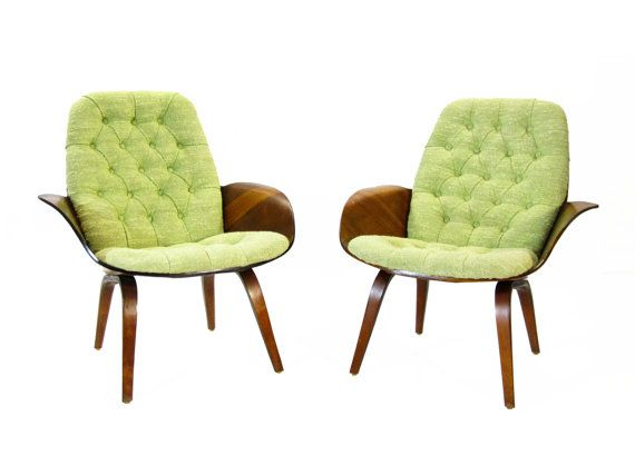 Cool Chairs Pair Of Plycraft Mulhausercherner Chairs By