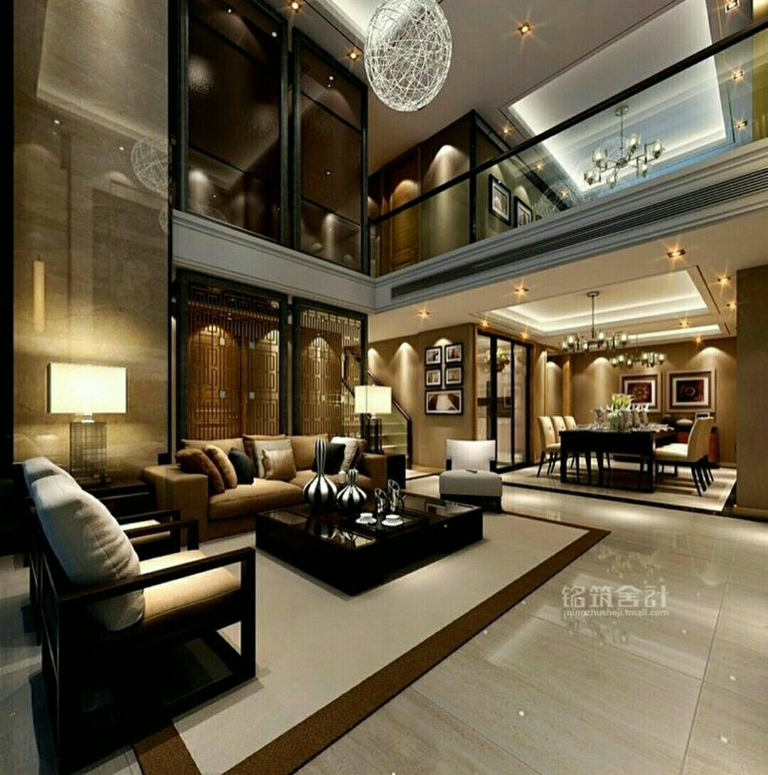 cool modern luxury penthouse living room | Luxury penthouse living | Luxury living room design, House ...