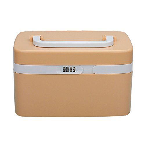 Eoere Combination Lock Medicine Cabinet With Separate Compartments Childproof Pill Case Storage Box Size 11x7
