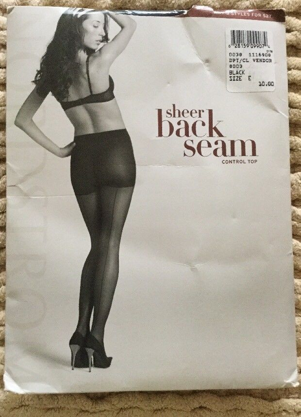 About still back seam pantyhose sizes what