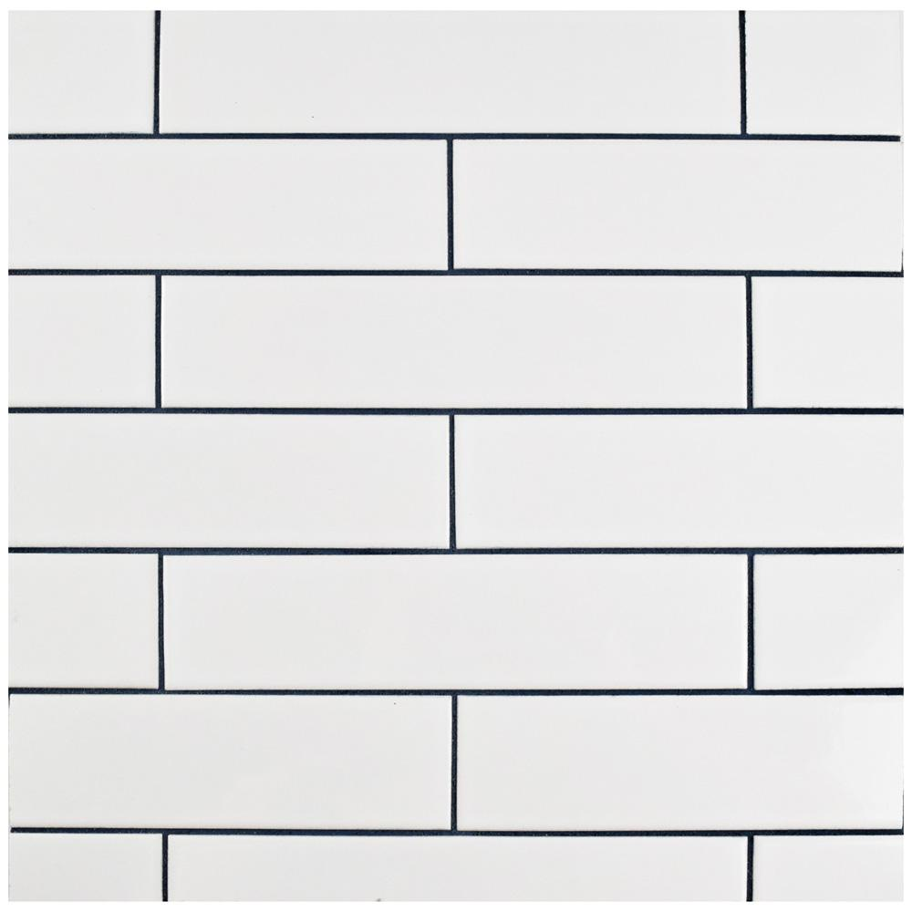Merola Tile Metro Soho Glossy White 1 3 4 In X 7 3 4 In Porcelain Floor And Wall Subway Tile 1 Sq Ft In 2020 White Porcelain Tile Subway Tile White Subway Tiles