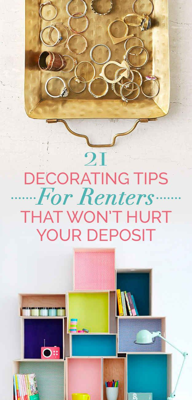 21 Easy Unexpected Living Room Decorating Ideas: 21 Cheap And Easy Decorating Tricks For Renters