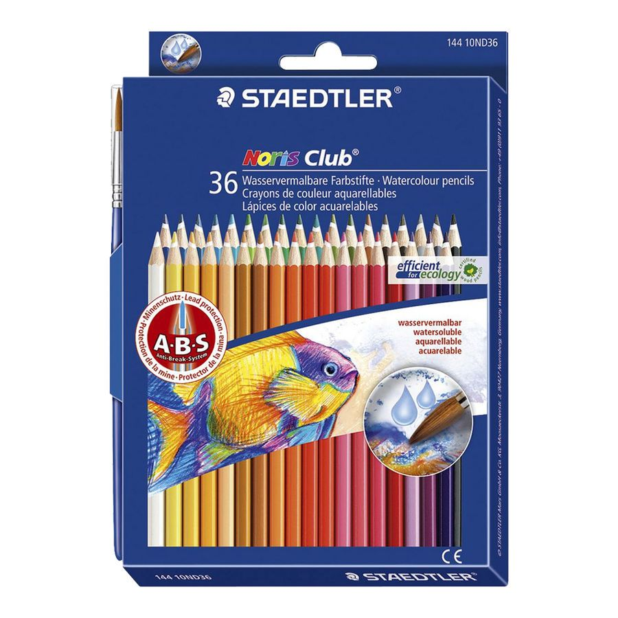 Details About Staedtler Noris Club Aquarell Water Color Pencil 36