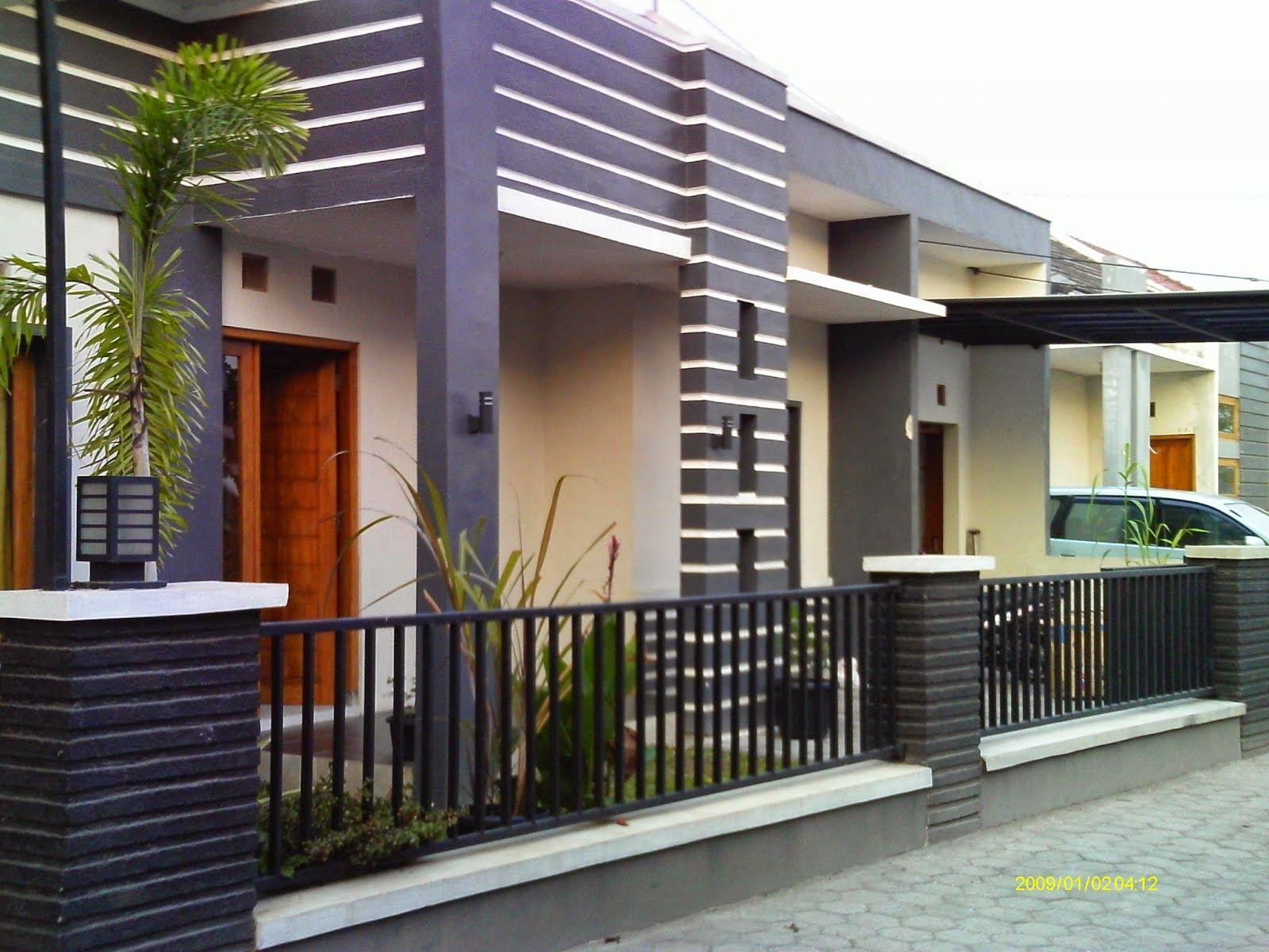 Desain Pagar Rumah Mewah Modern Cek Bahan Bangunan