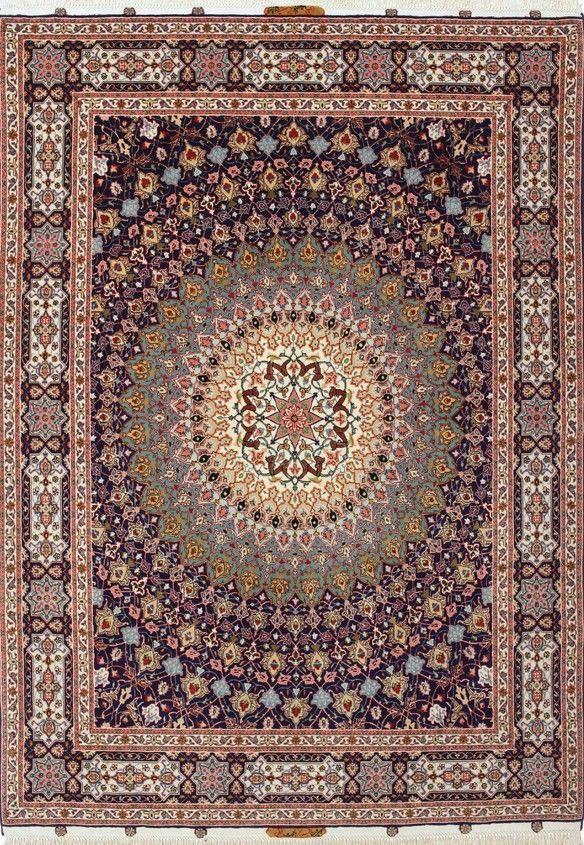 Persian Qum 60 Raj Silk And Wool Rug