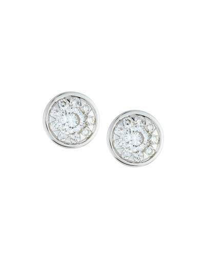 18k Diamond Bouquets Bezel Stud Earrings, 0.66tcw
