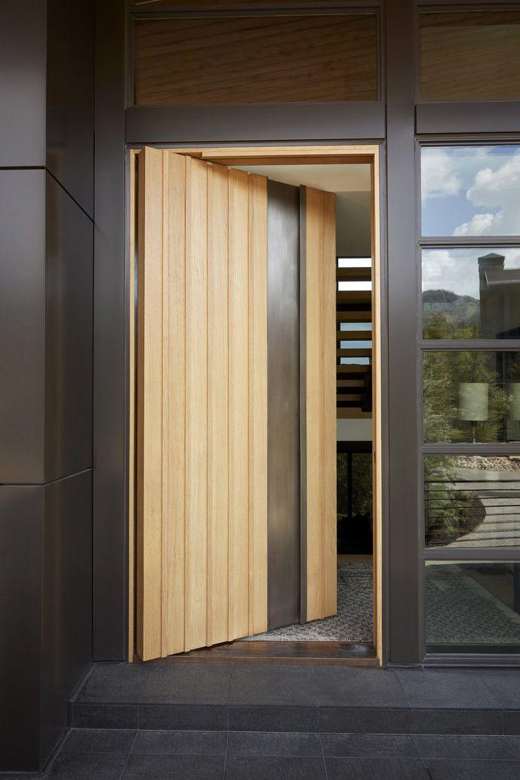 Modern Pivot Entryway Door Exterior Entry Doors Modern Exterior Doors Pivot Doors