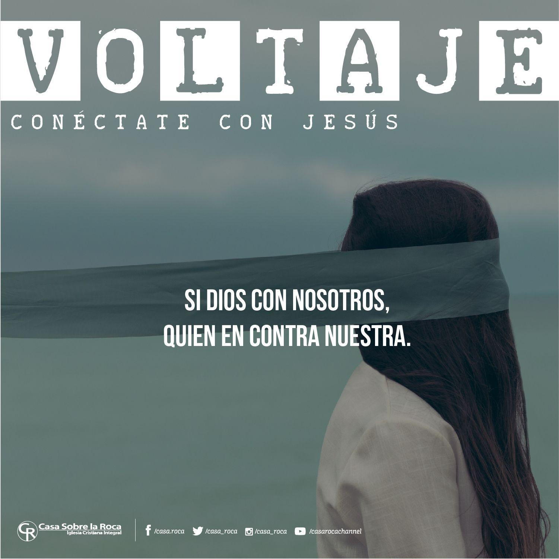Si Dios con nosotros, Quien en contra nuestra. #ConéctateConJesús http://devocional.casaroca.org/jv/08may