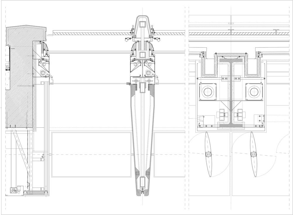 Section Detail Drawings Of A Typical Gfrc Fin And Adjacent Louvers