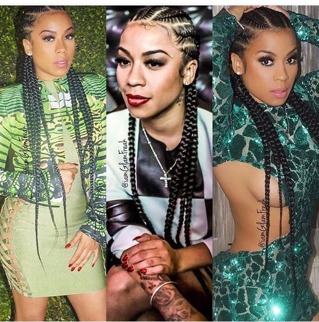 Keyshia Cole Cornrows Braided Styles Pinterest