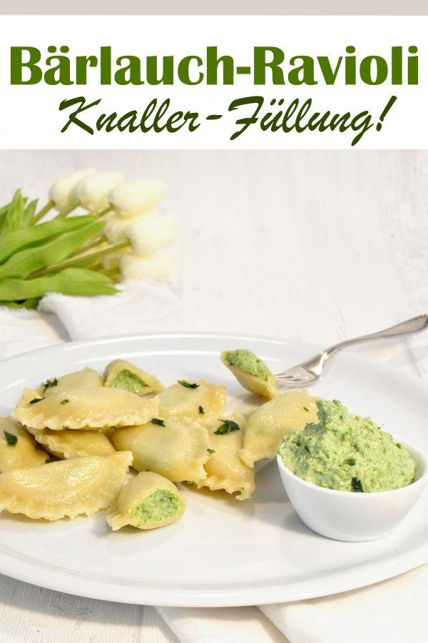 Photo of Wild garlic ravioli. Big stuff!